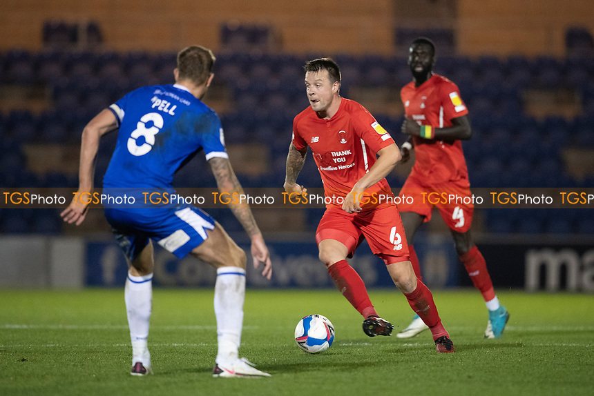 Josh Coulson, Leyton Orient in action during Colchester United vs Leyton Orient, Sky Bet EFL League 2 Football at the JobServe Community Stadium on 14th November 2020