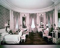 "Mrs. Vanderbilt's bedroom at ""The Breakers"", Ochre Point, Newport, Rhode Island. House designed by Richard Morris Hunt in 1893. Beaux arts style."