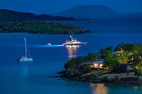 Caneel Bay Night Scene<br /> Caneel Bay Resort<br /> Virgin Islands National Park<br /> St. John, US Virgin Islands