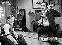 James Cagney and George Tobias (R) in THE STRAWBERRY BLONDE