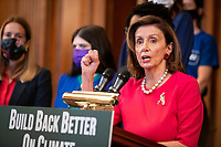 Nancy Pelosi holds a press conference on the Build Back Better Act