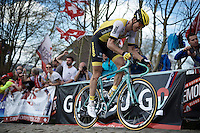 Sep Vanmarcke (BEL/LottoNL-Jumbo) up the Paterberg for the last time<br /> <br /> 100th Ronde van Vlaanderen 2016