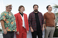 """CANNES, FRANCE - JULY 17: Nick Batzias, Caleb Landry Jones, director Justin Kurzel and Shaun Grant at the """"Nitram"""" photocall during the 74th annual Cannes Film Festival on July 17, 2021 in Cannes, France.<br /> CAP/GOL<br /> ©GOL/Capital Pictures"""