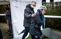 Sanne Cant (BEL/Iko-Crelan) post-race<br /> <br /> UCI 2021 Cyclocross World Championships - Ostend, Belgium<br /> <br /> Women's Race<br /> <br /> ©kramon