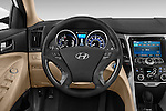 Car pictures of steering wheel view of a 2015 Hyundai Sonata Hybrid Limited 4 Door Sedan Steering Wheel