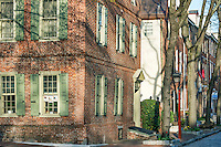 Colonial town house, Society Hill, Philadelphia, Pennsylvania, USA