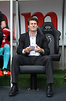 Barclays Premier League, Swansea City (white) V West Ham United, 05/08/12, Liberty Stadium Swansea. <br /> Pictured: Swans manager Michael Laudrup<br /> Picture by: Ben Wyeth / Athena Pictures<br /> Athena Picture Agency<br /> info@athena-pictures.com