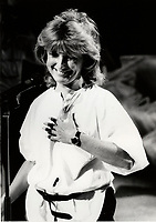 Montreal (QC) CANADA 1985 file photo - Festival Juste Pour Rire 1985 : <br />  : Dominique Michel , Festival Juste Pour Rire 1985