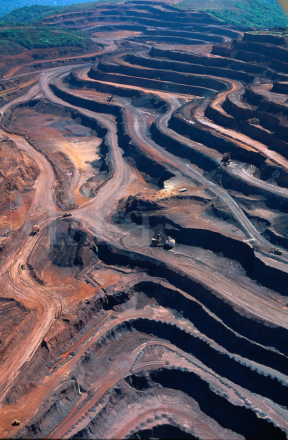 Aerial view of Caraj's iron mine in Amazon rainforest in Par State, Brazil..
