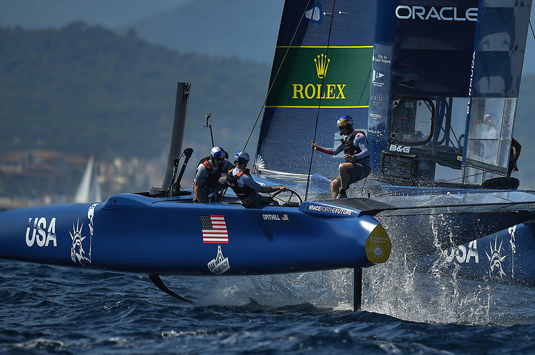 SailGP teams compete in identical F50 wingsailed catamarans that can reach speeds of up to 98km/h and each six-race Grand Prix event runs across two days.