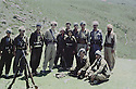 Iraq 1983.Dilshad Barzani,Masrour Barzani, Nechirvan Barzani,Abdel Aziz, son of Sidat Barzani, in Kalashin with peshmergas during the armed struggle .Irak 1983.Pendant la lutte armee, Dilshad Barzani, Masrour Barzani, Nechirvan Barzani, Abdel Aziz, fils de Sidat barzani, a Kalashin