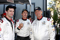 LOS ANGELES - APR 11:  Sam Witwer, Phil Keoghan, Eric Braeden at the 2014 Pro/Celeb Race Qualifying Day at Long Beach Grand Prix on April 11, 2014 in Long Beach, CA