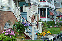 Victorian houses, Gurney Street, Cape May, NJ, USA