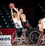Kathleen Dandeneau, Tokyo 2020 - Wheelchair Basketball // Basketball en fauteuil roulant. <br /> Canada takes on Great Britain in the preliminary round // Le Canada affronte la Grande-Bretagne au tour préliminaire. 25/08/2021.