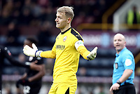Barnsley's Adam Davies reacts after Referee Simon Hooper reversed his penalty decision when a VAR referral showed Burnley's Matej Vydra was off-side<br /> <br /> Photographer Rich Linley/CameraSport<br /> <br /> Emirates FA Cup Third Round - Burnley v Barnsley - Saturday 5th January 2019 - Turf Moor - Burnley<br />  <br /> World Copyright © 2019 CameraSport. All rights reserved. 43 Linden Ave. Countesthorpe. Leicester. England. LE8 5PG - Tel: +44 (0) 116 277 4147 - admin@camerasport.com - www.camerasport.com