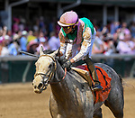 April 30, 2021 : Obligatory, #7, ridden by jockey Jose Ortiz, wins the Eight Belles Stakes on Kentucky Oaks Day at Churchill Downs on April 30, 2021 in Louisville, Kentucky. Carlos Calo/Eclipse Sportswire/CSM