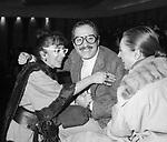 LINA WERTMULLER CON NINO ED ERMINIA MANFREDI - TEATRO ARGENTINA ROMA 1975