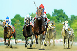 August 29, 2015 : Runhappy, ridden by Edgar Prado, wins the King's Bishop Stakes on Travers Stakes Day in Saratoga Springs, NY. Scott Serio/ESW/CSM