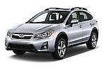 2016 Subaru Crosstrek Hybrid-Touring 5 Door SUV Angular Front stock photos of front three quarter view