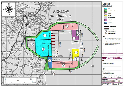 As at Bremore, a new port at Arklow would require extensive shoreside development in addition to massive breakwaters