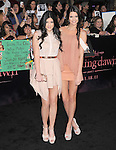 Kendall Jenner and Kylie Jenner  attends The Los Angeles premiere of Summit Entertainment's THE TWILIGHT SAGA: BREAKING DAWN PART 1 HELD AT Nokia Theatre at L.A. Live in Los Angeles, California on November 14,2011                                                                               © 2011 DVS / Hollywood Press Agency