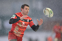Vincent Clerc of Stade Toulousain in action during the Heineken Cup 6th round match between Leicester Tigers and Stade Toulousain at Welford Road on Sunday 20th January 2013 (Photo by Rob Munro).