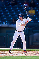 Oregon State Beavers Alex McGarry (44) at bat during an NCAA game against the New Mexico Lobos at Surprise Stadium on February 14, 2020 in Surprise, Arizona. (Zachary Lucy / Four Seam Images)