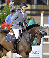 WELLINGTON, FL - MARCH 14: Andres Rodriguez participants in the $127,000 Horseware Ireland Grand Prix at the Winter Equestrian Festival at Palm Beach International Equestrian Center on March 14, 2015 in Wellington, Florida.<br /> <br /> <br /> People:  Andres Rodriguez