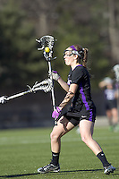 University at Albany attacker Taylor Frink (3). University at Albany defeated Boston College, 11-10, at Newton Campus Field, on March 30, 2011.