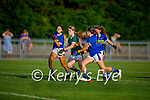 Kerry's Súin Horgan gets past the Tipperary defenders Reah Sweeney, Sophie Coughlan and Gemma O\Connell in the Munster LGFA U14 football championship