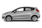 Driver side profile view of a 2013 Ford Fiesta Titanium 5 Door Hatchback