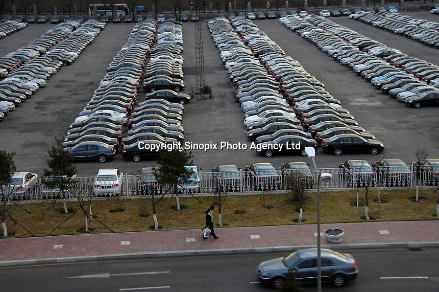 Brilliance Zhonghua cars parking at Brilliance Auto in Shenyang, Liaoning province, China.  21 Nov 2006