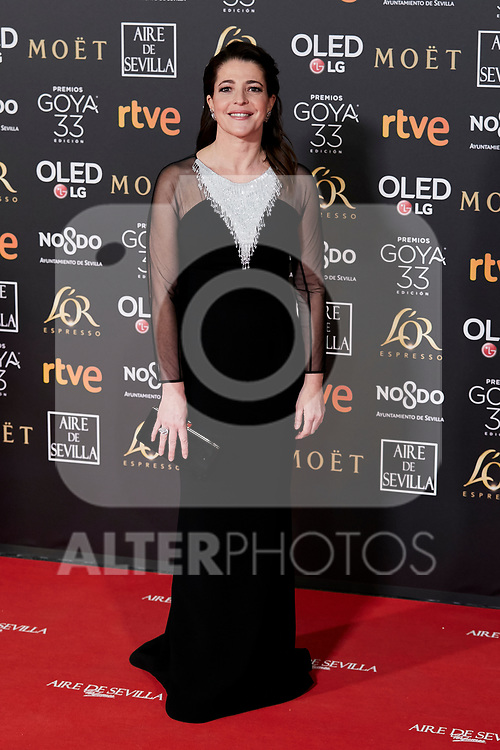 Nora Navas attends to 33rd Goya Awards at Fibes - Conference and Exhibition  in Seville, Spain. February 02, 2019. (ALTERPHOTOS/A. Perez Meca)