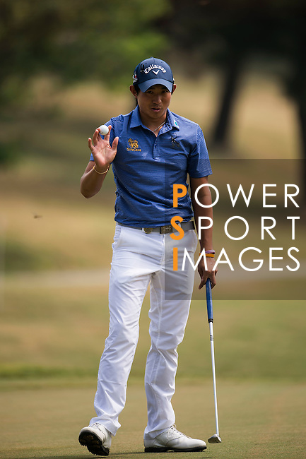 Pavit Tangkamolprasert of Thailand in action during the Venetian Macao Open 2016 at the Macau Golf and Country Club on 16 October 2016 in Macau, China. Photo by Marcio Machado / Power Sport Images