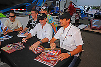 Ozz Negri & John Pew, #60 Michael Shank Racing Ford/Riley, autograph session