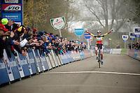 race winner (once again): Sanne Cant (BEL/BKCP-Powerplus)<br /> <br /> Flandriencross Hamme 2014