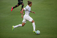 LOS ANGELES, CA - AUGUST 22: Rolf Feltscher #25 of the Los Angeles Galaxy moves with the ball during a game between Los Angeles Galaxy and Los Angeles FC at Banc of California Stadium on August 22, 2020 in Los Angeles, California.