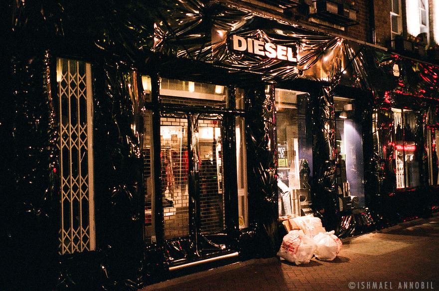 Diesel shop under Wraps, Carnaby Street.