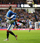 James Tavernier celebrates his opener with Harry Forrester