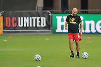 WASHINGTON, DC - SEPTEMBER 27: Federico Higuain #2 of D.C. United warming up during a game between New England Revolution and D.C. United at Audi Field on September 27, 2020 in Washington, DC.