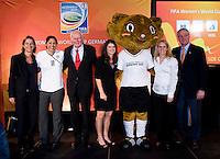 Tatjana Haenni, Steffi Jones, Klaus Scharioth, Mia Hamm, Karla Kick, Kristine Lilly, Dan Flynn. A Welcome USA reception for the FIFA Women's World Cup 2011 was held at the German ambassador's residence in Washington, DC.