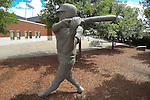 Baseball player statue outside of Dickey Stephens Park in North Little Rock. Corpus Christi Hooks @ Arkansas Travelers 6-2-13 - North Little Rock, Arkansas, U.S- (Credit Image: © Justin Manning/Eclipse/ZUMAPRESS.com)