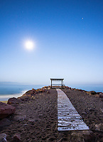 Fine Art Landscape Photograph of early morning moonbeams. <br />