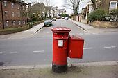 Royal Mail pillar box, South London.