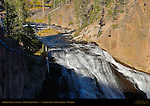 Gibbon Falls in Autumn, Madison Junction, Yellowstone National Park, Wyoming