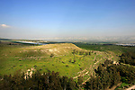 Israel, Beth Shean. A view of the Jordan Valley from Tel Beth Shean