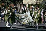 Grasmere Rush Bearing Ceremony. Cumbria Lake District UK 1974