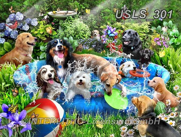 Lori, REALISTIC ANIMALS, REALISTISCHE TIERE, ANIMALES REALISTICOS, zeich, paintings+++++Splish Splash_72_WM,USLS301,#a#, EVERYDAY ,puzzle,puzzles