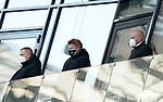 21.11.2020, PreZero-Arena, Sinsheim, GER, 1.FBL, TSG 1899 Hoffenheim vs VfB Stuttgart , <br />DFL  regulations prohibit any use of photographs as image sequences and/or quasi-video.<br />im Bild<br />Geschäftsführer Dr. Peter Görlich (Hoffenheim), Leiter Scouting Bastian Huber (Hoffenheim), <br />Direktor Profifußball Alexander Rosen (Hoffenheim)<br /> <br /> Foto © nordphoto / Bratic