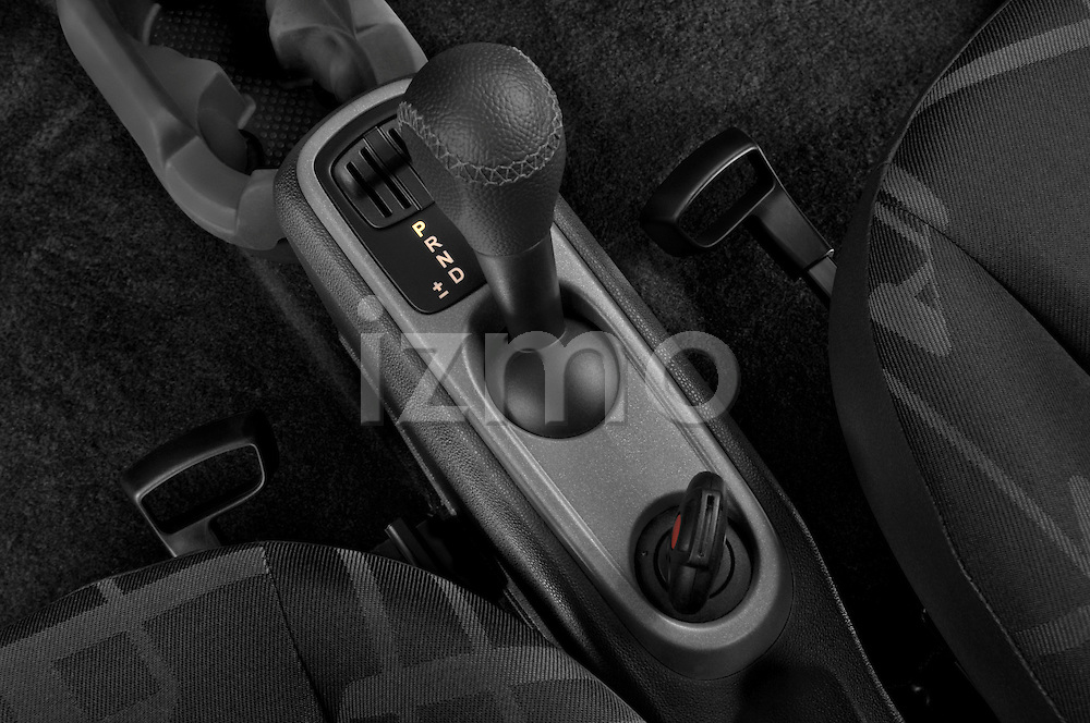 Gear shift detail view of a 2008 Smartfortwo